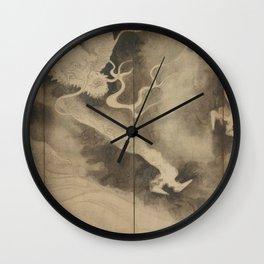 Dragons and Clouds by Tawaraya Sotatsu (俵屋 宗達) Wall Clock