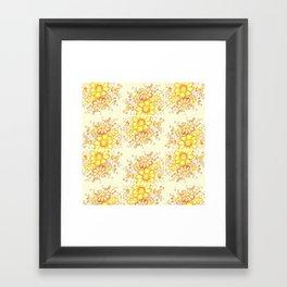 Larger Faded Flowers Tiled Framed Art Print