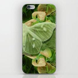 Green Glow Butterfly iPhone Skin