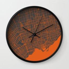 Toronto Map Wall Clock