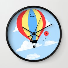 Balloon Buddies Wall Clock