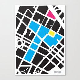 City Map Turin Canvas Print