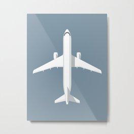 A320 Passenger Jet Airliner - Slate Metal Print