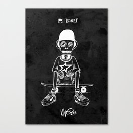 Boney Skateboarding series - 03 Canvas Print