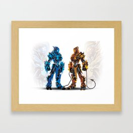 Ice and Fire Framed Art Print