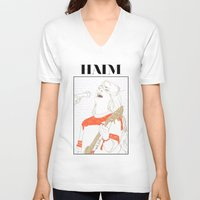 haim V-neck T-shirts featuring Danielle Haim by chazstity