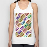 90s Tank Tops featuring 90s pattern by Gabor Nemethi