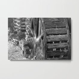 Grist Mill Water Wheel Metal Print