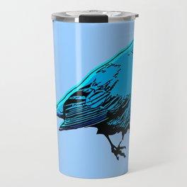 Fat Little Blue Bird Travel Mug