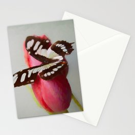 Happiness | Butterfly and Tulip Photography Stationery Cards