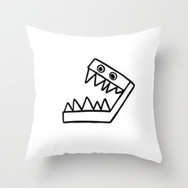 Toothy Throw Pillow