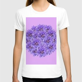 Purple Flower Ball Illustration - Lilac Background #decor #society6 #buyart T-shirt