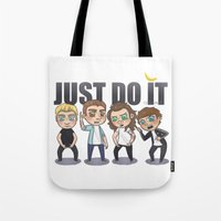 cyrilliart Tote Bags featuring Just 1Do It by Cyrilliart