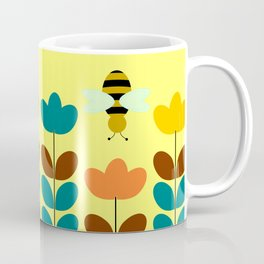 Flowers with bees Coffee Mug