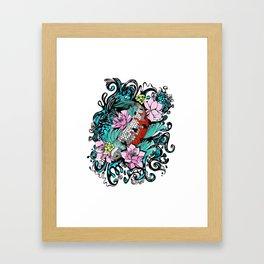 Colored Carpa Koi Framed Art Print