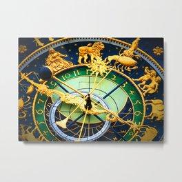 vintage clock_16 Metal Print