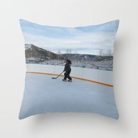 skate Throw Pillows featuring skate  by smilingbug