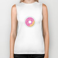 donut Biker Tanks featuring Donut by Marko Stupic