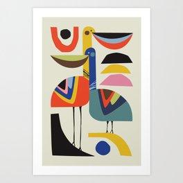 Pelicans Love Art Print