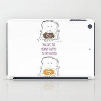 nutella iPad Cases featuring You are the Peanut Butter to my Nutella by Kate & Co.
