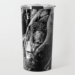 Thai Buddha Head Ayutthaya Travel Mug
