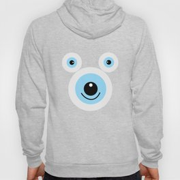 Funny polar bear face Hoody