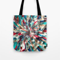 weird Tote Bags featuring Weird Surface by Danny Ivan