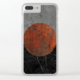 Abstract - Marble, Concrete, and Rusted Iron II Clear iPhone Case