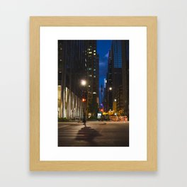 Quiet Evening in Chicago's Loop II Framed Art Print