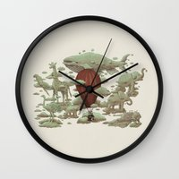 cloud Wall Clocks featuring Cloud Watching by Terry Fan