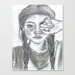 Tumblr girl Canvas Print
