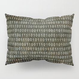 The Binary Code - Distressed textured version Pillow Sham