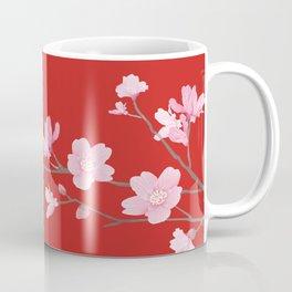 Cherry Blossom - Red Coffee Mug