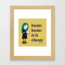 5th of November Framed Art Print