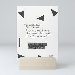 Sappho, If not, Winter, quote. design 3 Mini Art Print