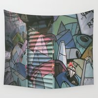 graffiti Wall Tapestries featuring Graffiti by jonnykam