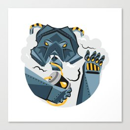 BEAR MECH STICKER - VAPORZOO Canvas Print