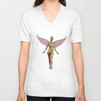 nirvana V-neck T-shirts featuring Nirvana - In Utero by Blaz Rojs