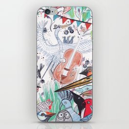 Wild Night at the Ornithology Club iPhone Skin