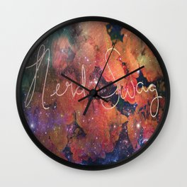 Nerd Swag Wall Clock