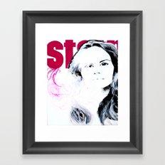 Stain Framed Art Print