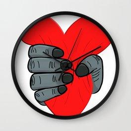 A Monkey Crushes A Heart Heartbreaker Lovesickness Wall Clock
