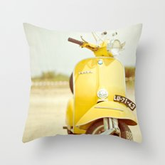 Mod Style in Yellow Throw Pillow
