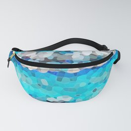 Abstract blue seascape Fanny Pack