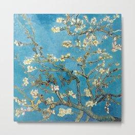 Almond Blossom Vincent Van Gogh Blue Metal Print