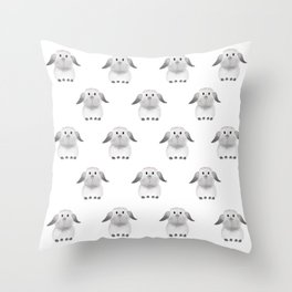 Whole Lotta Buns Throw Pillow
