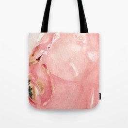 Pink Opal Watercolor Tote Bag