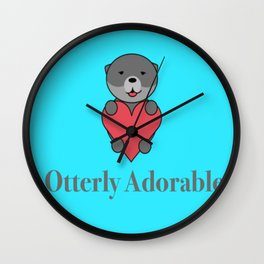 Otter-ly Adorable Wall Clock