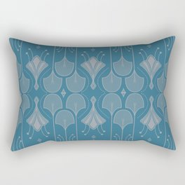 Art Deco Botanical Shapes Rectangular Pillow