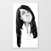 aaliyah Canvas Prints featuring Aaliyah by Icon Ink
